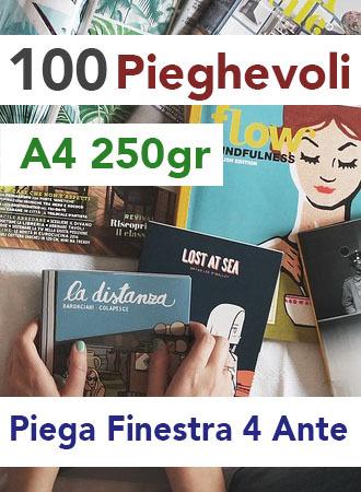 100 Pieghevoli A4