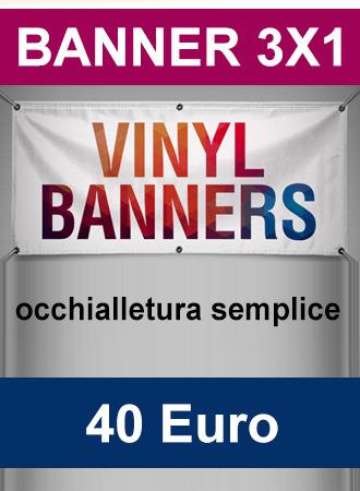 Banner 3X1 occhiellato