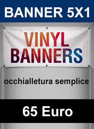 Banner 5X1 occhiellato