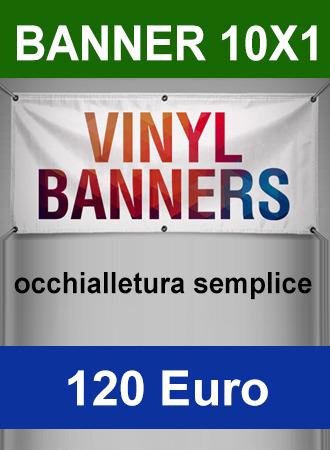 Banner 10X1 occhiellato